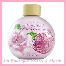 BAIN Moussant ''Boule'' PIVOINE & GRENADE 250ml AVON NEUF
