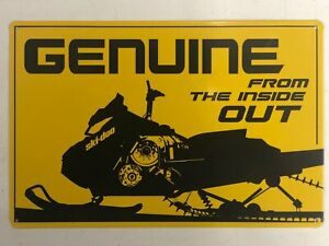 SKI-DOO 8x12 GENUINE SIGN