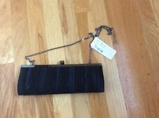Nitebags Black Satin Clutch Bag beaded- New with tags