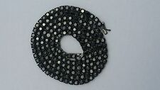 "BLACK 30"" 4mm CZ Round Cut hip hop Tennis iced out Necklace high end chain"
