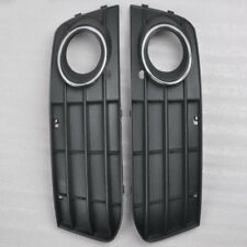 1 Pair Fog Light Cover Grill Front Bumper Grille For Audi A4 A4L B8 2009-2011