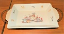 New listing Summer  00006000 Fields Casserole Baking Dish with Handles & Metal Carrier Oven to Table