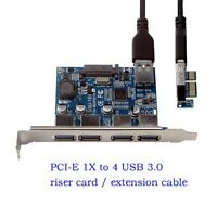 4 Port PCI-E to USB 3.0 HUB Expansion Card 5 Gbps Speed to pcie extension cable