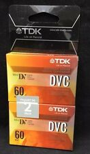 TDK DVC 60 Min Mini DV Digital Video Cassette Pack of 2