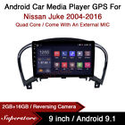 """9"""" Android 10.1 Car Stereo Media Player GPS Head Unit For Nissan Juke 2004-2016"""