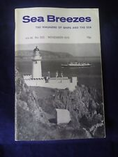 SEA BREEZES Magazine vol. 46 no. 323 November 1972