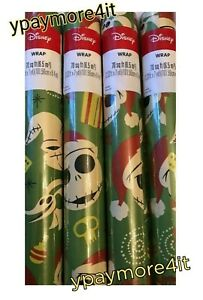 1 Roll Disney The Nightmare Before Christmas 70sq ft Holiday Wrapping Gift Paper