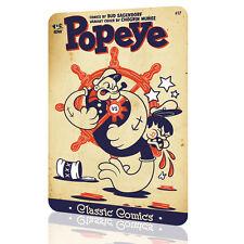 METAL SIGN Popeye Classic Poster Vintage Comics Retro Home Decor Wall Art Pub