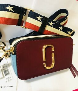 Marc Jacobs snapshot camera bag crossbody small red cherry multicolor blue