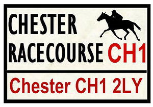 Caballo Carreras Carretera Signos (Chester) - Divertido Recuerdo Novedad Nevera