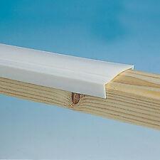CARAVAN WHITE PLASTIC WINDOW CAPPING/TRIM - 27MM X 10M + FREE PINS