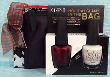 OPI HOLIDAY GLAM'S IN THE BAG Gift Set~Bogota Blackberry & Funny Bunny FREE Bags