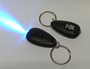 LED UV keyring torch 405nm use with glow in the dark or security paints