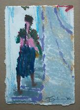 J D L - Vintage Impressionist Oil Pastel Sketch - Signed - Unframed - Circa 1982