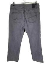 Alpinestars Mens 36x32 Gray Jeans Straight Leg Zipper Fly