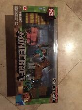 MINECRAFT OVERWORLD SADDLE PACK STEVE HORSE PIG FIGURES TOYS NEW SERIES 2