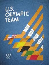 OLYMPIC TEAM USA HOCKEY STICKS (LG) T-Shirt SWEDEN SOVIET UNION CANADA FINLAND