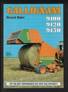 GALLIGNANI 9100/9120/9150 ROUND BALERS 8 PAGE BROCHURE