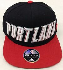 NBA Portland Trail Blazers Adidas Name Under Brim Snap Back Cap Hat Style #VN73Z