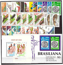Surinam / Suriname 1993 complete year issue MNH