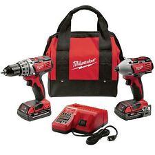 Milwaukee 2-Tool Combo Kit 2691-22  M18 18V Li-Ion - 2200 RPM Impact Drill