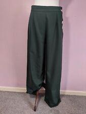 Vintage Style Swing Trousers Bottle Green Heyday Vintage UK 14