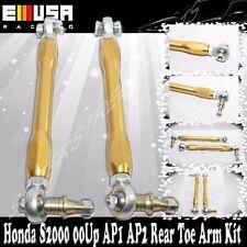 Rear Toe Arm Kit Adj.fit 00-09 Honda S2000  S2K Ap1 Ap2 GOLD