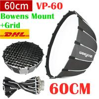 DHL Viltrox Weeylite VP-60 Deep Parabolic Softbox Bowens Mount Grid For Studio