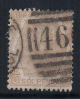 Großbritannien 1872 Mi. 38 Gestempelt 40% 6 Pence, Sieg, B, Q.