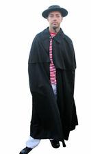 Schwarzer Umhang Kutscher Mantel Faschingskostüm für Herren Männer