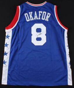 Jahlil Okafor Signed 76ers Jersey (JSA COA) NBA All-Rookie First Team (2016)