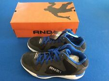 AND1 Ambassador men's athletic shoes, comfort padded, black/royal blue, New
