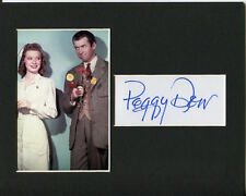 Peggy Dow Sexy Nurse Harvey Signed Autograph Photo Display With Jimmy Stewart