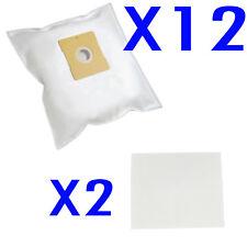 12X Vacuum Cleaner Bag + 2 Filter For Menalux T106 T106N T146 T182 Duraflow 1940