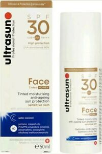 Ultrasun Face Tinted Honey SPF30 50ml Boxed New