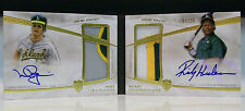 2014 Topps Mark McGwire/Rickey Henderson Dual Auto Jersey Patch Book Card #3/10