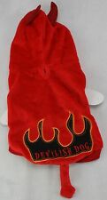 "Halloween Red Devilish Devil Pet Dog Costume Coat Size Small 10.5"" L NWT"