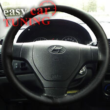 FOR HYUNDAI GETZ 2002-2009 BLACK REAL GENUINE 100% LEATHER STEERING WHEEL COVER