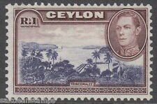 CEYLON - 1938 1r. Blue-violet and Chocolate - MM / MH