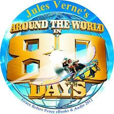 Around the World in 80 Days, Jules Verne Wild Adventure Audiobook on 1 MP3 CD