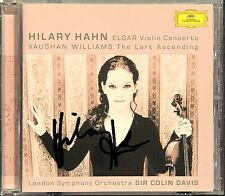 Hilary HAHN Signiert ELGAR Violin Concerto VAUGHAN WILLIAMS The Lark Ascending