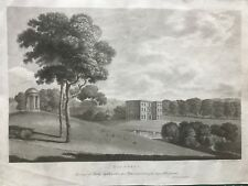 1791 Antique Print; Halswell House, Somerset after Thomas Bonnor