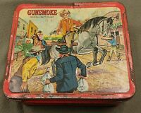 RARE Aladdin Lunch Box Gunsmoke Marshall Matt Dillon 1962 Vintage Lunch Pail