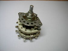 Ceramic Rotary Switch 6  pole 3 positions. NOS. Lot of 1