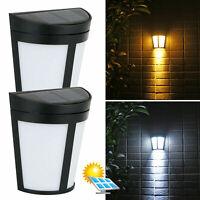 Solar 6 LED Wall Mount Light Outdoor Garden Path Way Fence Yard Patio Lamp USA
