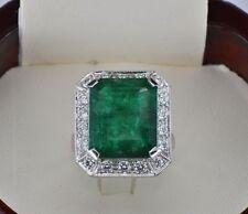 Emerald White Gold Retro Fine Jewellery (1940s)
