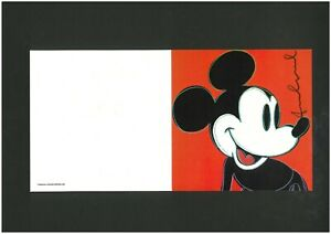 ANDY WARHOL -  invitation card ! MICKEY MOUSE!!!