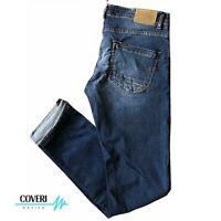Jeans COVERI moving uomo denim elasticizzato con zip regular design italiano 122