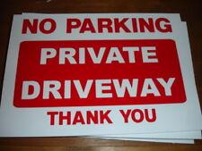 NO PARKING PRIVATE DRIVEWAY Sign, Garage, Shop, Drive