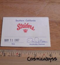 1967 Southern California Striders Track Meet Ticket press pass